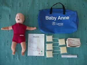 Laerdal Baby Anne Cpr Emt Training Manikin Bag Book 5 Lungbags Prep Pads Shields
