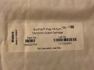 New Sealed Waters Sunfire C8 Prep Hplc Lc Guard Cartridge 19x10mm P n 186002754