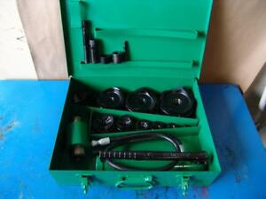 Greenlee 7310 Hydraulic Knockout Punch And Die Set 1 2 To 4 4