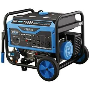 Portable Generator 10 000 W Backup Power Emergency Dual Fuel Gasoline Propane