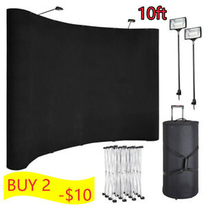 Second Hand 10 Feet Portable Display Trade Show Booth Exhibit Black Pop Up Kit