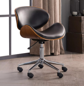 Chair Curved Office Adjustable And Comfortable Executive Metal Wood Desk Wheels