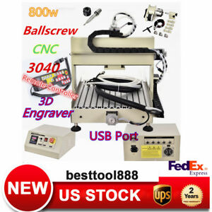 Usb 3040 Cnc Carve 4 Axis 0 8kw 3d Engraver Milling Machine With Remote Control