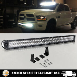 40 42 Led Light Bar Fit 2010 2018 Dodge Ram 1500 2500 Front Bumper