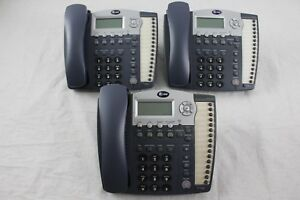 Lot Of 3 At t 984 4 line Small Business System Office Phones
