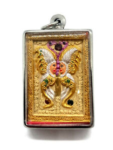 King Of Butterfly With 9 Tailed Fox Lady By Kruba Krissana Thai Buddha Amulet 4