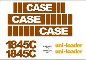 Case Skidsteer Decal Replacement Set 1845c mid5 With Uni loader Decals