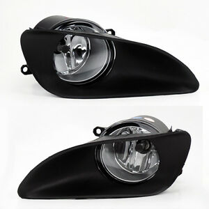 Front Bumper Clear Fog Lights Lamps W Switch For Toyota Yaris 06 11 4dr Sedan