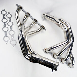 Chevy Corvette 2005 2013 C6 Ls2 Ls3 Stainless Race Exhaust Headers Manifolds