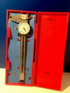 Mitutoyo Dial Caliper 505 637 50 0 6 Range 001 With Box Instructions
