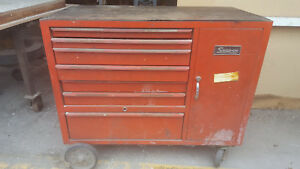 Snap On Rollaway Tool Chest Vintage 50s60s Era