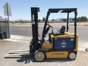 2005 Yale Erc065 Electric 36v Forklift 3 Stage Mast W Side Shift W Charger