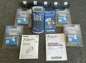 Brother P touch Pt 1400 Label Thermal Printer With Accessories Free Shipping
