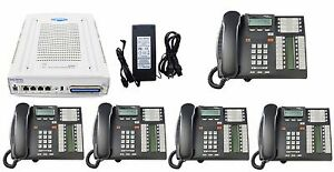 Nortel Avaya Bcm 50 4 Line Phone System W 5 T7316e Telephones Voicemail Bcm50