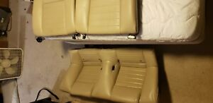 2005 2009 Ford Mustang Coupe Oem Rear Leather Seats Tan Color