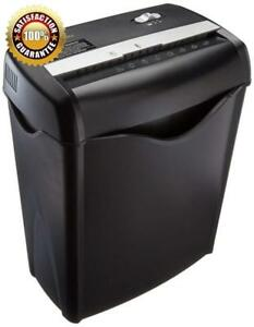 6 Sheet Cross Cut Paper And Credit Card Shredder With High Quality Black