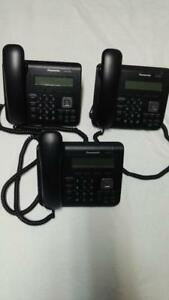 Lot Of 3 Panasonic Kx ut123 Standard 2 port Sip Phone