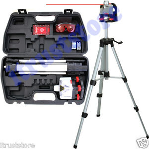 Battery Spinning Red Leveling Laser Level Projector Marker Kit With Tripod