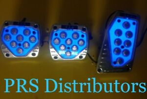 Blue Light Up Car Pedal Covers Gas Brake Clutch Pedal Light Up Covers In 3 Pcs