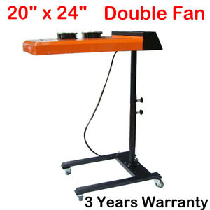 20 x24 double Fan Temperature Controller Flash Dryer For Screen Printing 220v Us
