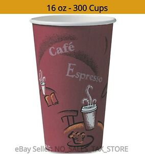 To Go Disposable Hot Drink Coffee Cafe Paper Design Cups 12 Oz 300 Ct