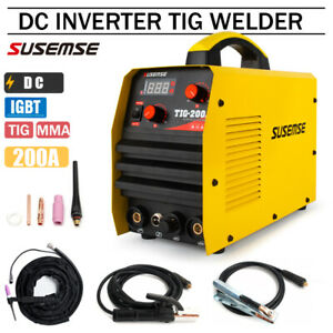 220v Tig Welder Tig arc Stick Aluminum Welder 200a Dc Inverter Welding Machine
