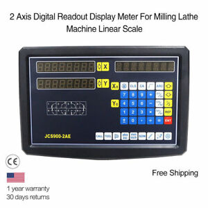 For Milling Machine X Y 2 Axis Digital Readout Display Kit Linear Glass Scale Fs