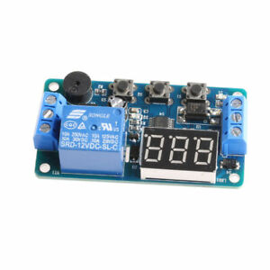 New Dc 12v Led Display Digital Delay Timer Control Switch Module Plc Automation