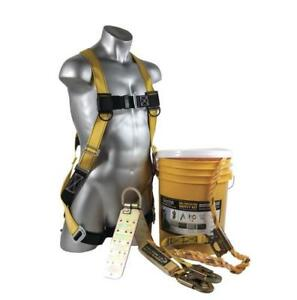 Guardian Fall Protection 00815 Bucket Of Safe tie Roofer s Kit With 50 Lifeline