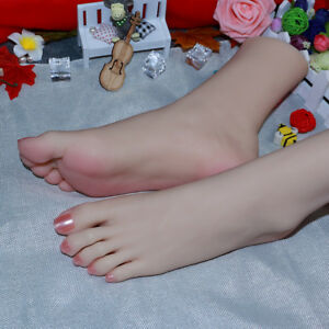 Rare With Jointed Silicone Female Legs Feet Big Foot Shoes socks Display Model