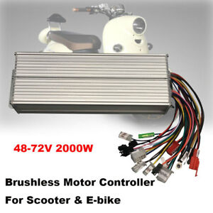 48 72v 2000w Electric Bicycle E bike Scooter Brushless Dc Motor Speed Controller