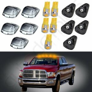 5pcs Cab Marker Smoke Cover Warm White Led Light Bulbs Rubber Base For Ford