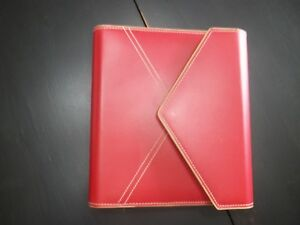 Franklin Covey Euc Envelope Classic Planner Red Binder Organizer 1 25 Rings
