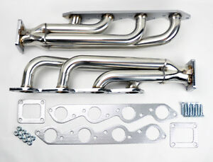 Chevy Gmc Big Block V8 Twin Turbo Stainless Exhaust Headers Manifolds 396 502
