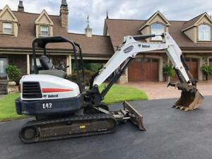 Bobcat E42 Mini Excavator Trackhoe Loader Backhoe