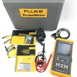 Fluke 105b Scopemeter Series Ii Case Software Leads Instructions