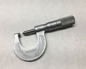 Starrett Screw Pitch Thread Micrometer No 575 7 To 9 P 0 1 001 Clean