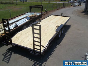 8 X 24 Low Pro Half Deckover 7 Ton Hd Bobcat Equipment Trailer 24ft Flatbed 14k