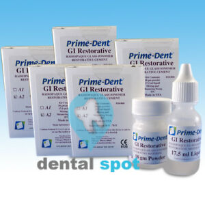 Prime dent Permanent Glass Ionomer Liner Dental Restorative Cement X 5