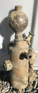 Antique Brass Steam Engine Oiler Locomotive Michigan Lubricator Co