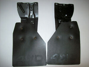 1984 1988 84 88 Toyota 4wd Pickup Truck Rear Mud Flaps Splash Guards W Brackets