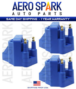 Set 3 Blue Ignition Coils For Buick Allure Century Cadillac Chevy Dr39 5c1058