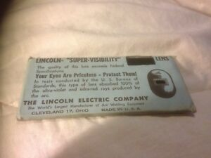 Lincoln Supervisibility No 12 Welders Mask Lens