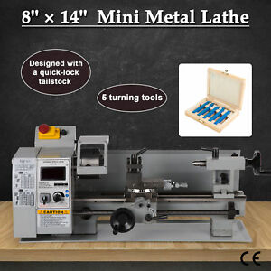 8 x 14 Digital Metal Turning Mini Lathe Machine Automatic Metal Wood Milling