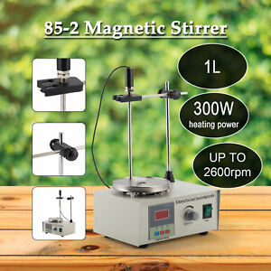 Magnetic Stirrer With Heating Plate Digital Hotplate Mixer Stir Bar 1000ml