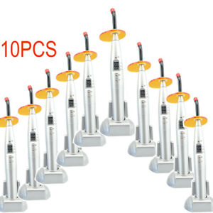 10pcs White Silver Dental 10w Cordless Led Curing Light Cure Lamp 2000mw Usa