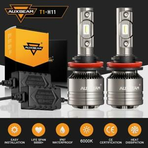 Auxbeam Led Headlight Kit H8 H9 H11 8000lm 6000k Low Beam Fog Bulb With Canbus