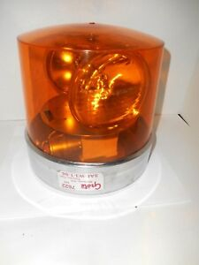 Vintage Quality Grote Model 7622 Amber Beacon Dual Emergency Light