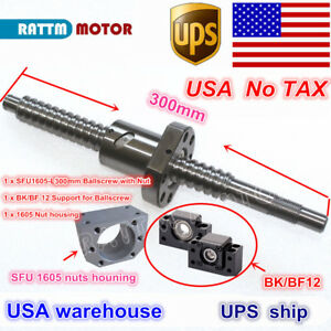us Ball Screw Sfu1605 300mm End Machined Bk bf 12 Support nut Cnc Router Kit