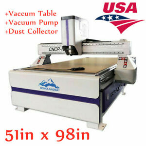 51 X 98 In Ad Woodworking Cnc Router Machine vaccum Table vacuum Pump Usa